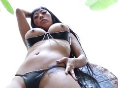 Pierced oriental wench throathed and rammed