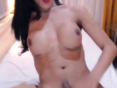 Brunette Hair Lady-Man with Vertical Zeppelins Copulates Her Sex-Toy
