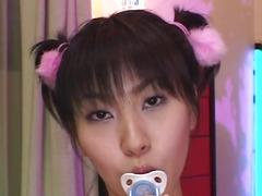 Yukine Fujishiro in socks licks hard schlong