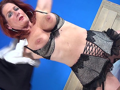 Curvy And Beautiful Mother I'd Like To Fuck Redhead Masturbates With Her Toys