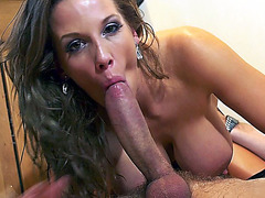 Breasty British mother I'd like to fuck Rebecca Greater Quantity engulfing massive meat stick