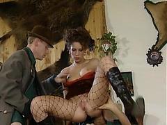 German Male+Male+Female anal smashing fearsome-fearsome PornDoe