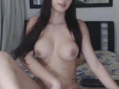 Beautiful Breasty Tgirl Jerking Wild on Web Camera