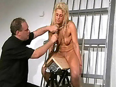 Wooden Horse Cookie Anguish In Prison of Golden-Haired Female Captive