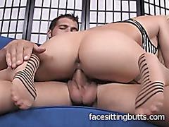 Eating cum off of my feet