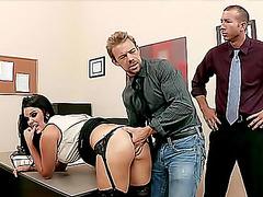 Mackenzee Pierce double penetration in office