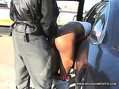 Amateur Black sluts gangbang on rooftop