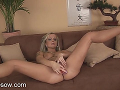 Curvy golden-haired mother i'd like to fuck piece of butt bonks a large pink toy