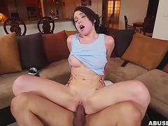Ryland Ann takes a big rod in POV fearsome-threatening PornDoe