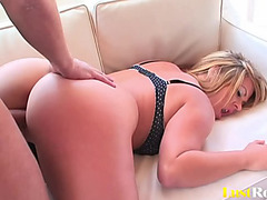 Hawt golden-haired princess Alice Bell with a bouncy ass