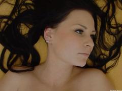 Dark Brown Sweetheart Rubbs Her Love Button