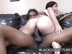 Leah Jaye fearsome-menacing British Indian Legal Age Teenager And The Large Dark Penis