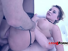 Anna Polina 1st time in studio:threatening mother i'd like to fuck DAP'ed &menacing creampied SZ914