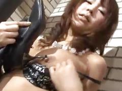 Maki Sakashita feels joy inside her furry love tunnel