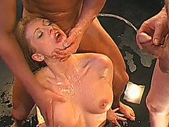 Annette sucks and copulates like kinky Germany playgirl
