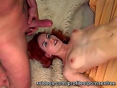 large ramrod copulates cute 19yo redhead