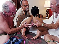 College Chick Nikki Kay Acquires Freaky With Old Studs