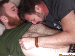 Redbear assfingered during the time that jerking by chub chap
