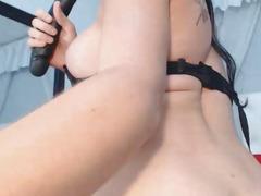 Gorgeous Busty Lady-Boy Plays Her Hard Weenie