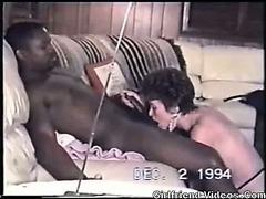 Retro Interracial Mature BJ
