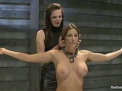 Lesbo Thrall Training Ariel X:menacing Featured Tutor Bobbi Starr