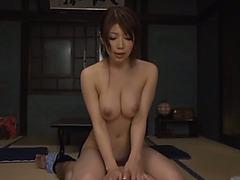 Astounding Yuuka Minase has wild sex with a lad in POV episode