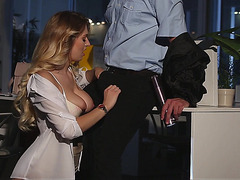 Natalia having dressed sex with security guard fearsome-fearsome HD Porn