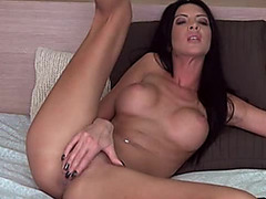Pretty dark brown Claryce caressing her vagina / Webcamvideo threatening-menacing free movie scene from popular adult web camera