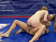 Joanna Pleasing & Judy Smile stay undressed and wrestle