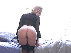 Slutty chick Alexis Texas on ottoman playing with her sexy soaked vagina