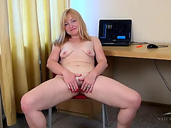 Mother I'd Like To Fuck plays with her bush in a hotel room