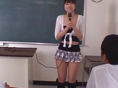Misato Kuninaka in real Japanese school trio