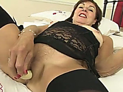 This perverted older lady at no time receives tired of using her sex toys