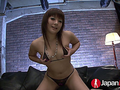 Stylish Oriental wench Kurara Iijima is having immodest sex with several men