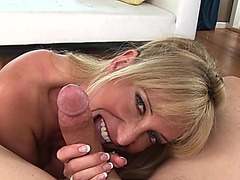 mother I'd like to fuck Olivia Parrish is giving a oral job