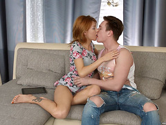 Carnal Ginger Playgirl Esepranse Rides On A Inflexible Boner