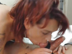 Breasty Ladyboy Can't Live Without to Engulf Dong and Balls