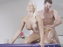 Breasty Blanche Bradburry gazoo drilled from behind