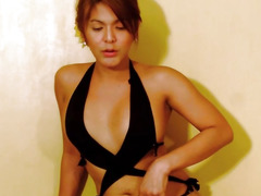 Breasty piladyboy pulling her hard jock