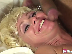 Double Weenie For Blond Mother Cara Faucet