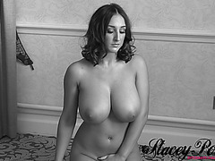 Stacey Poole menacing-threatening Absolutely Stripped In Darksome &fearsome White