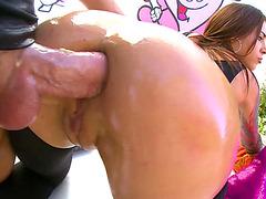 Felicity Feline enjoys a rowdy anal fuck