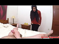 Ethnic muslim playgirl serving schlong and arse