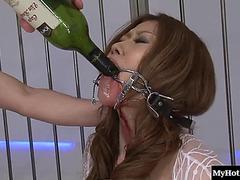 SADOMASOCHISM discharge of lustful Oriental dame getting drunk heavily