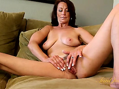 Stylish mother i'd like to fuck confidenty disrobes and teases her body