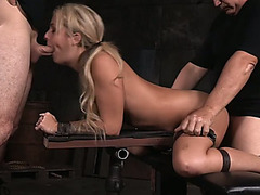 Breathtaking blond angel completely destroyed by 2 studs