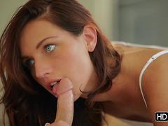 Having a ravishing cutie engulfing your dong previous to sex threatening-menacing PornDoe