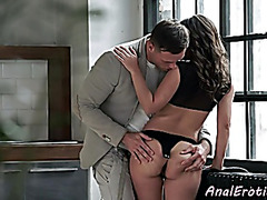 Euro gal fucked into ass by large cock spouse