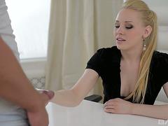 Bonerrific blond sweetheart Angie Koks drilled bad in her anal opening