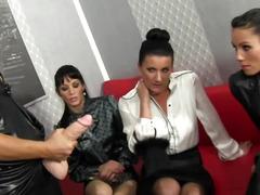 Bukkakke loving lesbo sluts cumsaturate